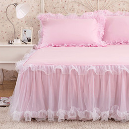$enCountryForm.capitalKeyWord NZ - Luxury Rufflled Bedspread Romantic Lace Bed Skirt Bed Sheet Handmade Bedspreads Twin Bed Skirts Queen Size