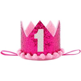 birthday princess party box NZ - Lovely Baby Crown Hat Birthday Flower Crown Headdress Baby Shower Party Kids Adult Portrait Cap Headdress Princess Crown 3