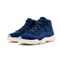 $enCountryForm.capitalKeyWord UK - Cheap Mens Jumpman 11 XI basketball shoes Blue Suede Re2pect Dark grey Triple Black Gamma Blue Midnight Navy Wool 11s J11 sneakers with box