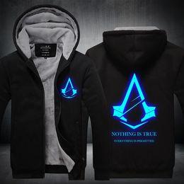 $enCountryForm.capitalKeyWord Australia - winter Luminous Assassins Creed Men women Warm Hoodies NOTHING IS TRUE autumn clothes sweatshirts Zipper jacket fleece hoodie streetwear
