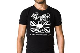 $enCountryForm.capitalKeyWord Australia - Conflict We Don't Want Your Law! British Flag Logo Black T-Shirt Top Quality T Shirt Men O Neck Top Tee Letter Top Tee