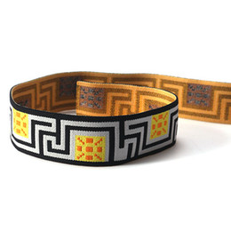 Band Belts UK - 3000m lot Accessories maze motif woven stripes soft belt rubber band   thicken and soft attached to elastic band width 3cm SCS2149-30MB1