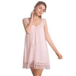 c9f7b06f0 Camisolas de seda sexy das meninas on-line-Suspensórios sexy verão mulheres  sleepwear roupa
