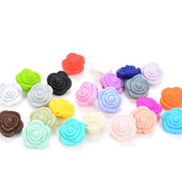 Dental Care Baby Care Lets Make 200pc Baby Teether Silicone Rose Flower Bpa Free Teething Baby Products Chew Toys Making Jewelry Necklace Beads 38mm