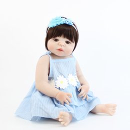 Full House Toys UK - 55cm Full Silicone Reborn Girl Baby Doll Toy Vinyl Newborn Princess Toddler Babies Alive Bebe Play House Bathe Toy Kids Boneca