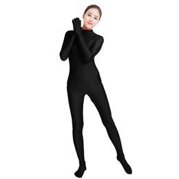 Army Women Costumes NZ - Ensnovo Black Spandex Zentai Full Body Skin Tight Jumpsuit Unisex Zentai Suit Bodysuit Costume for Women Unitard Lycra Dancewear
