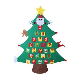 $enCountryForm.capitalKeyWord UK - Calendar Christmas Gifts for 2018 Kids DIY Felt Christmas Tree with Ornaments New Year Decoration Door Wall Hanging Decoration