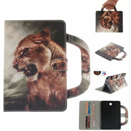 """Leather Wallet For Galaxy S2 Australia - Tablet Case For Samsung Galaxy Tab S2 8.0"""" T710 T715 Handle Flip Cover Stand Leather Wallet Coloured drawing Tiger Lion wolf"""