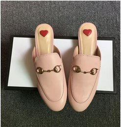 Tiger slippers online shopping - 2019 designer loafer sandals princetown horsebit mules slipper with box suedue metal chain slipper loafers dragon tiger snake embroidered
