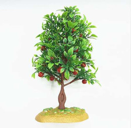 office table plants NZ - Sale Decoration Artificial Plants 21cm Plastic Simulation Tree Trees Landscape Plant Decoration Fruit Sand Table Model
