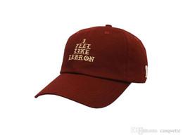 bb0c162cf1b NEW I FEEL LIKE LEBRON pablo Hat (slide buckle) james bone kanye west  cleveland cavs bear dad hat casquette drake snapback Baseball cap