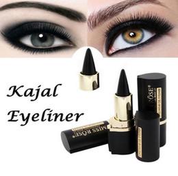 Gel Eyes Liner Australia - Wateroroof Makeup Eyes Pencil Longwear Black Gel Eye Liner Sticker Eyeliner Make Up EyeLiner Lapis De Olho Delineador#