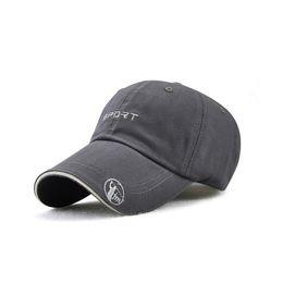 Discount gray snapback cap - New Men Sport Baseball Caps Unisex Cotton Letter Embroidery Trucker Hat Snapback Dad Hat Casquette Homme Black Gray Somb
