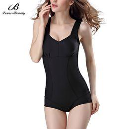 10eda325ef15f Lover Beauty Stretchy Body Shaper Slimming Waist Trainer Hot Shapers Butt  Lifter Tummy Control Bodysuit Corset Underwear-B