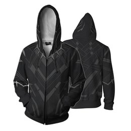 $enCountryForm.capitalKeyWord Canada - : Infinity War Black Panther Full Zip Hoodies Cool Pullover Thin Coat Jacket Unisex Jumper Sweatshirt Cosplay