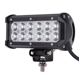 TracTor lighTs online shopping - ultra Bright quot W Spot Flood Combo Led Light Bar Offroad Driving Light with Mounting Bracket Waterproof for SUV Motorcycle Tractor Boat