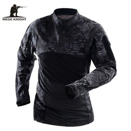 army combat uniform 2019 - Mege Brand Tactical Clothing Camouflage Men Army T-Shirt Long Sleeve Soldiers Combat Uniform Multicam Shirt discount arm