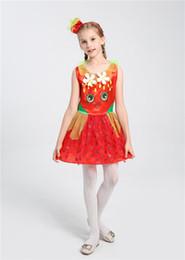 princess dresses for teenage girls 2019 - High Quality Girls Sweet Dress Summer Party Fruit Costume Strawberry Princess Dress For Children Girls Dance Party Dress