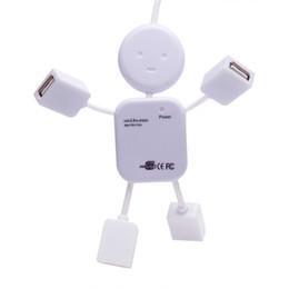 Usb Dolls UK - 4 Port USB 2.0 High Speed Hub for PC Laptop Doll Man Design White