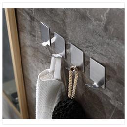 $enCountryForm.capitalKeyWord Australia - Stainless Steel Self Adhesive Hooks Key Rack Garage Storage Organizer Stick On Sticky Kitchen Towel Hanger Wall Mount Contemporary Hot sale
