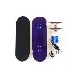 Professional Finger Skateboard UK - Canadian Maple Purple Professional Finger Skateboard Birthday Gift Finger Boards Nickel Bearing Wood Finger Skate Fingerboard