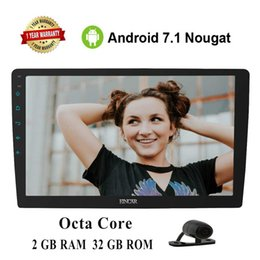 "navigation camera NZ - EinCar Double 2Din Large 10.1"" Android 7.1 1080P Video Octa Core 2 GB RAM GPS Navigation Car radio Bluetooth WiFi+Backup Camera"