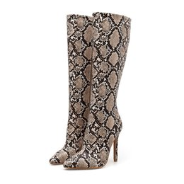 024a7a69ffb Grey stiletto boots online shopping - Hot sale European American winter knee  boots for women pointed