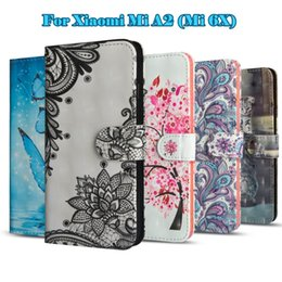 Wholesale For Xiaomi Mi A2 Mi X Fashion D Painting Pattern with Magnetic Magnet leather PU cases Wallet Pouch With Card Slot Case Cover