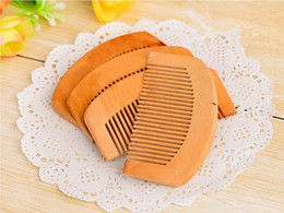 health hair care Canada - 2019 new Wooden Comb Natural Health Peach Wood Anti-static Health Care Beard Comb Pocket Combs Hairbrush Massager Hair Styling Tool
