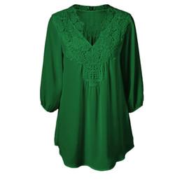 739e80e98e7 5XL Plus Size Tops Women Chiffon Blouse Shirt Lace Up Blouses V neck Loose  Blusas Work Ladies Clothes Tunic 2017 Spring