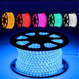 home disco lights 2019 - 110V 220V SMD5050 LED Strip Light 60LEDs M LED rope light Cuttable 1Meter led flexible strip for Christmas Home Disco Ba