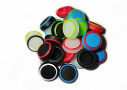 Großhandel Silikon-Analog Thumbstick Grips-Abdeckung für Playstation PS4 Pro Schlanke für PS3 Controller Thumbstick Kappen für Schalter