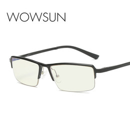 myopia computer NZ - WOWSUN Computer Photochromic Glasses Aluminum Magnesium Frame Anti-fatigue Men Blu-ray Glasses Myopia Eyewear Optical Frame A027