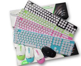 $enCountryForm.capitalKeyWord Canada - Fashion Color Keyboard Mouse Kit 2.4G USB Wireless Circular Keyboard& Mouse set dhl Free Shipping HK3960