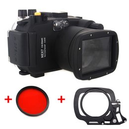 $enCountryForm.capitalKeyWord Australia - Underwater Waterproof Housing Diving Case for SONY Nex-7 Nex 7 18-55mm lens Camera + 67mm Red filter + Wet-lens Adapter Mount