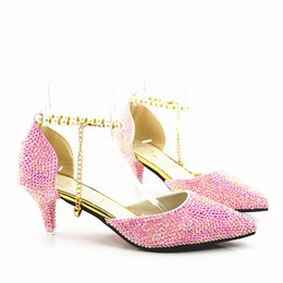 Elegant Pink Shoes NZ - New Fashionl Silver pink Color bling Crystal Women High Heel Pumps Pointed Toe Elegant Lady Wedding Shoes Sexy Lady sandals Heels Plus Size