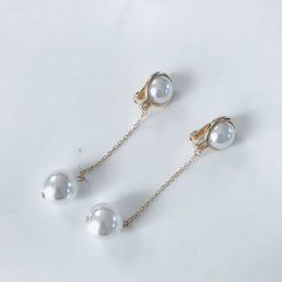 Clip Charms Free Shipping Australia - Free Shipping Simple Pearl Charm Elegant Japanese and Korean styles Trendy Earring, Party Fashion Clip Earring