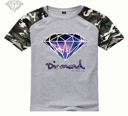 Discount black diamond shirts - New Summer Cotton Mens T Shirts Fashion Short-sleeve Printed Diamond Supply Co Male Tops Tees Skate Brand Hip Hop Sport