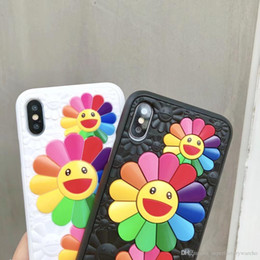 3ffb9af1296 1PCS For iphone 8 phone case Silicone Sun Flower Phone Case for iphone 6 7 X