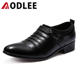 $enCountryForm.capitalKeyWord NZ - AODLEE Men Dress Leather Shoes Slip On Plus Size 38-48 Fashion Mens Formal Oxford Shoes Pointed Toe Casual Wedding Men