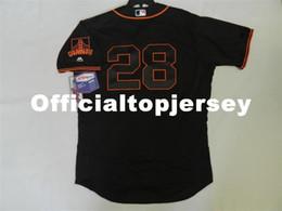 MAJESTIC Cheap SAN FRANCISCO  28 BUSTER POSEY FLEX BASE Jersey Black Mens Stitched  Wholesale Big And Tall SIZE XS-6XL baseball jerseys 242569b75