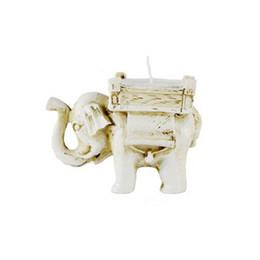 FEIS all'ingrosso Home Decoration Handmade piccolo tè luce resina elefante portacandele candela di corrispondenza candela fortunato favori di nozze