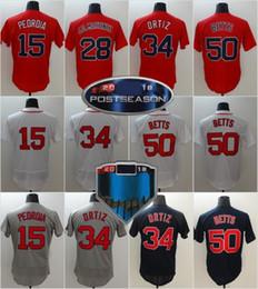 d1287ca52 2018 Postseason Patch Boston WS 34 Ortiz 15 Dustin Pedroia 50 Mookie Betts  28 JD Martinez 24 David Price Baseball Jerseys Drop Shipping
