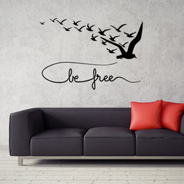 $enCountryForm.capitalKeyWord NZ - Brand New Seabirds Creative Wall Stickers Black Waterproof PVC Wallpapers Can Be Removable Arts Murals Sitting Room Bedroom Decor