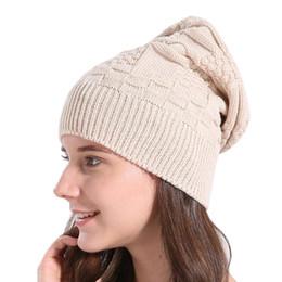 Beanies Braids NZ - 2017 NEW Autumn Winter Wool Knit Hat for Women and Girls Cross Caps Women Wool Knit Beanie Braided Hats Gorros#LREW
