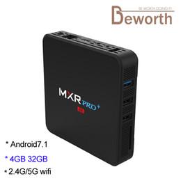 Android Media Player Quad Australia - 2.4G 5G Dual Band Wifi TV Box Android 8.1 RK3328 Quad Core 4GB 32GB 4K Media Player Bluetooth MXR Pro Plus 4G32G TVbox 3D Video