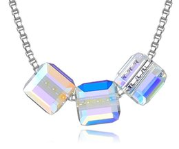 making cubes 2019 - The new cube sugar 8MM necklace is made of SWAROVSKI crystal S925 Sterling Silver Pendant. cheap making cubes