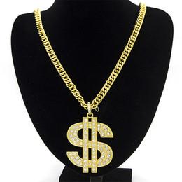 $enCountryForm.capitalKeyWord NZ - Men Hip Hop Gothic Long US Dollar Pendant Necklace Chain Accessories $ Necklaces Pendants for Women Men Fashion Jewelry
