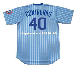 599b566de3b 5 Photos Willson Contreras Jersey Canada - Cheap Custom WILLSON CONTRERAS  Chicago Stitched 1980 s Majestic Cooperstown Baseball Jersey