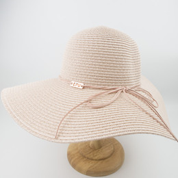 6a8016352de18 EPU-MH1868 New Female ladies Paper straw Floppy Hat Sun Summer Beach Wide  Brim UV Protection High Quality Caps Party Ladies Foldable Hat